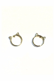 Light Years Collection Cat Ear Studs - Front full body