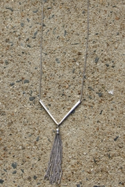 Light Years Collection Chevron & Tassel Necklace - Product Mini Image