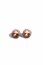 Light Years Collection Crystal Border Posts Earrings - Front cropped