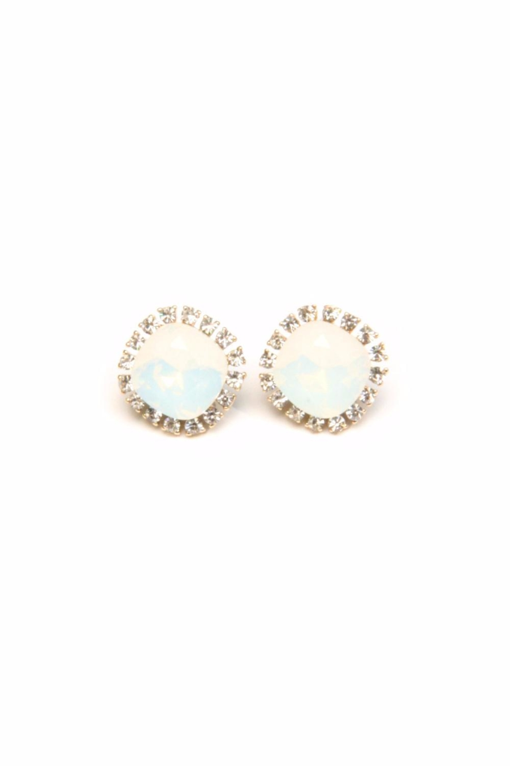 Light Years Collection Crystal Border Posts Earrings - Front Cropped Image
