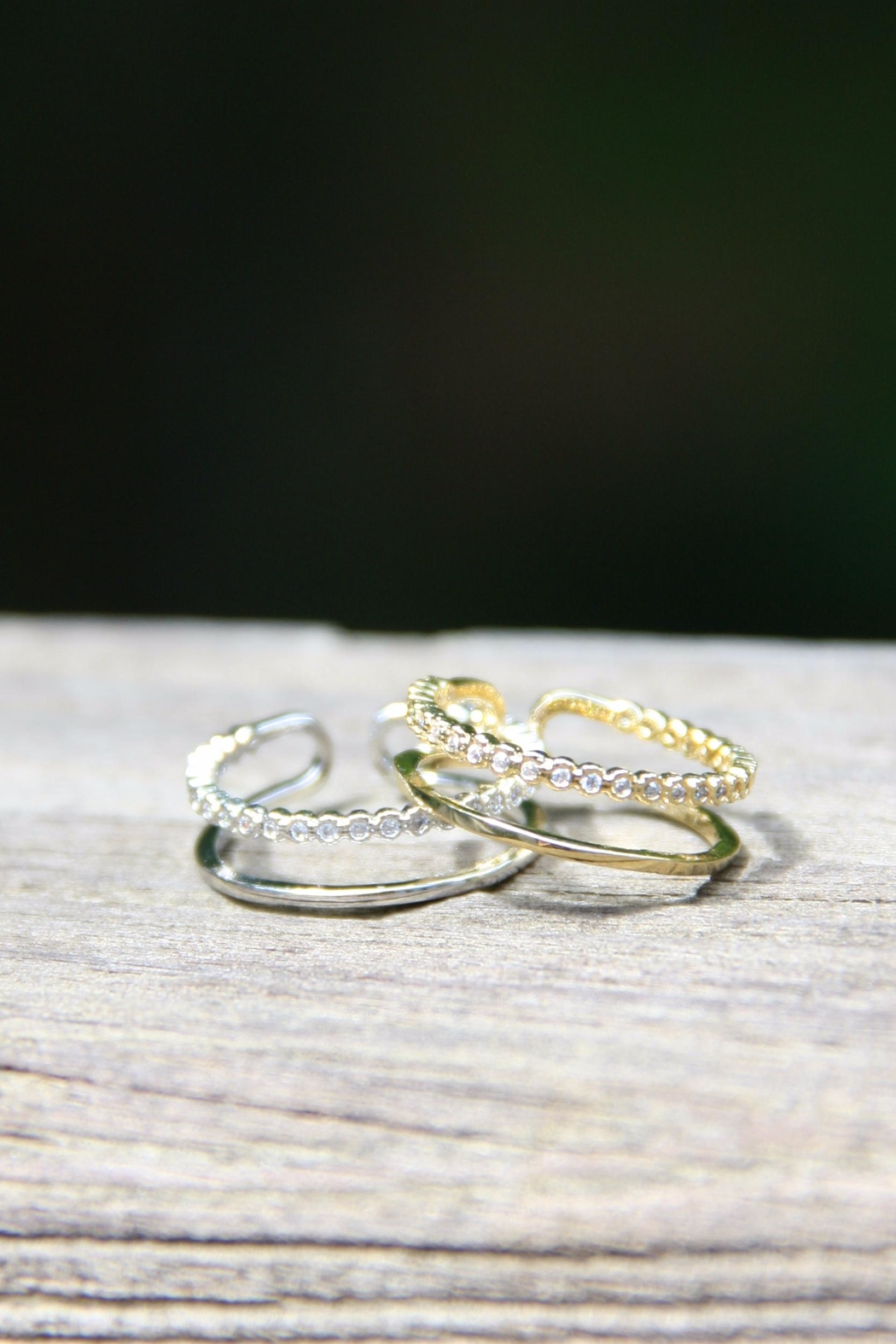 Light Years Collection Cz & Band Ring - Front Full Image