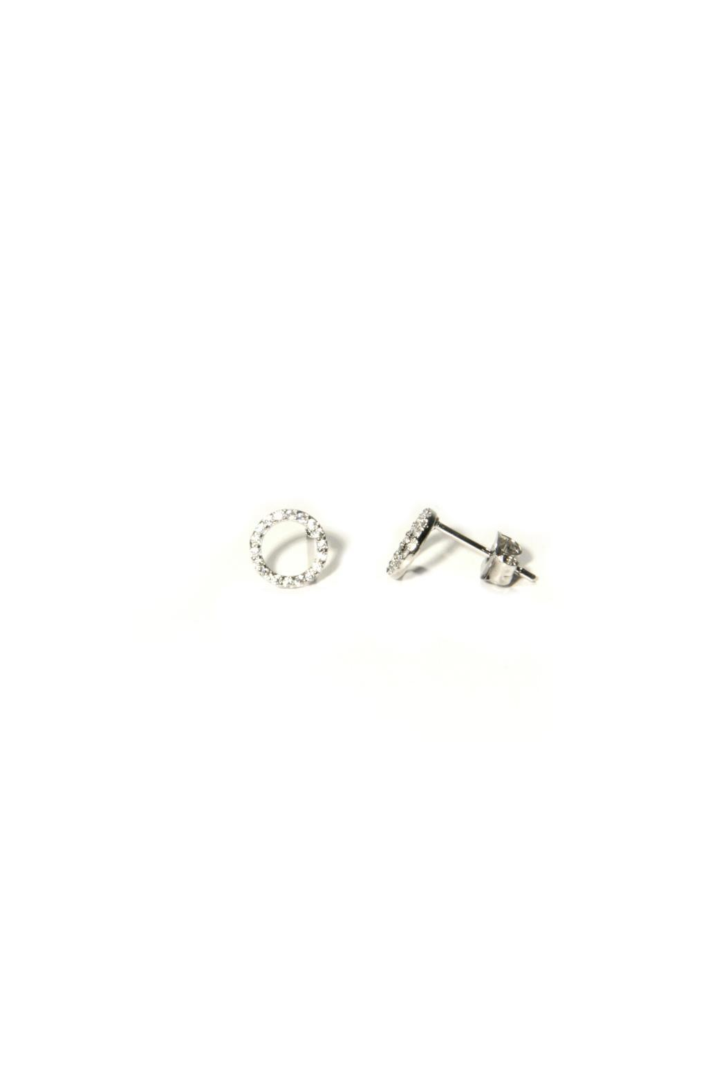 Light Years Collection Cz Ring Post Earrings - Main Image