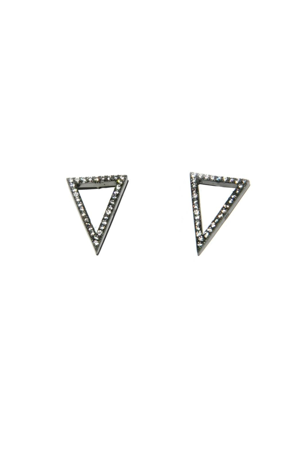 Light Years Collection Cz Triangle Earrings - Main Image