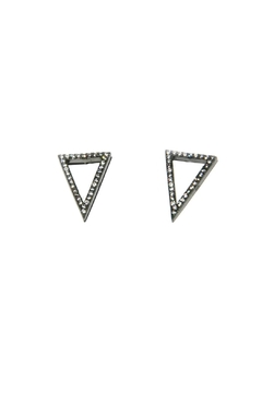 Light Years Collection Cz Triangle Earrings - Product List Image