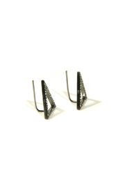 Light Years Collection Cz Triangle Earrings - Side cropped