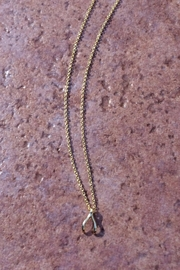 Light Years Collection Dainty Wishbone Necklace - Front cropped