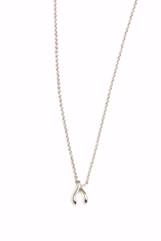 Light Years Collection Dainty Wishbone Necklace - Product Mini Image