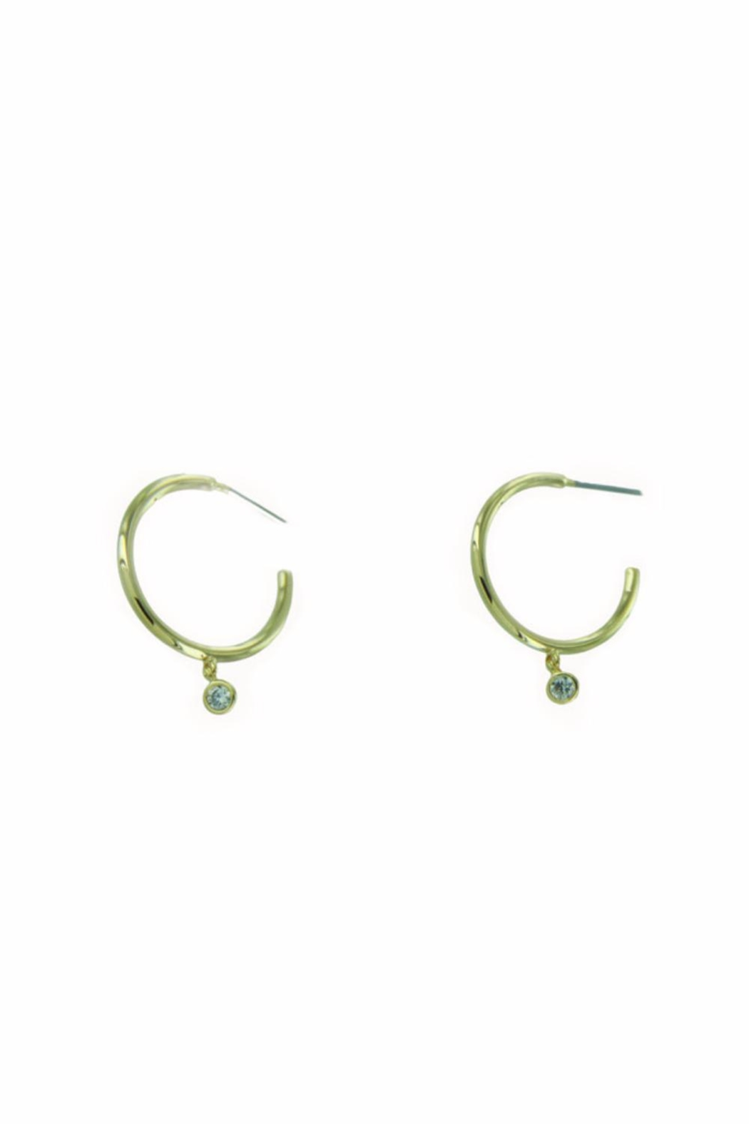 Light Years Collection Dangling Cz Hoops - Main Image