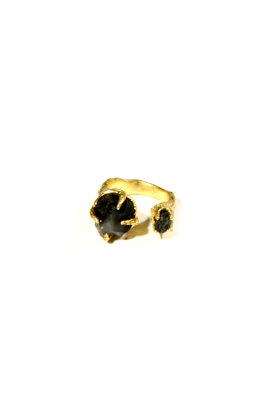 Light Years Collection Gold & Stone Ring - Front Full Image