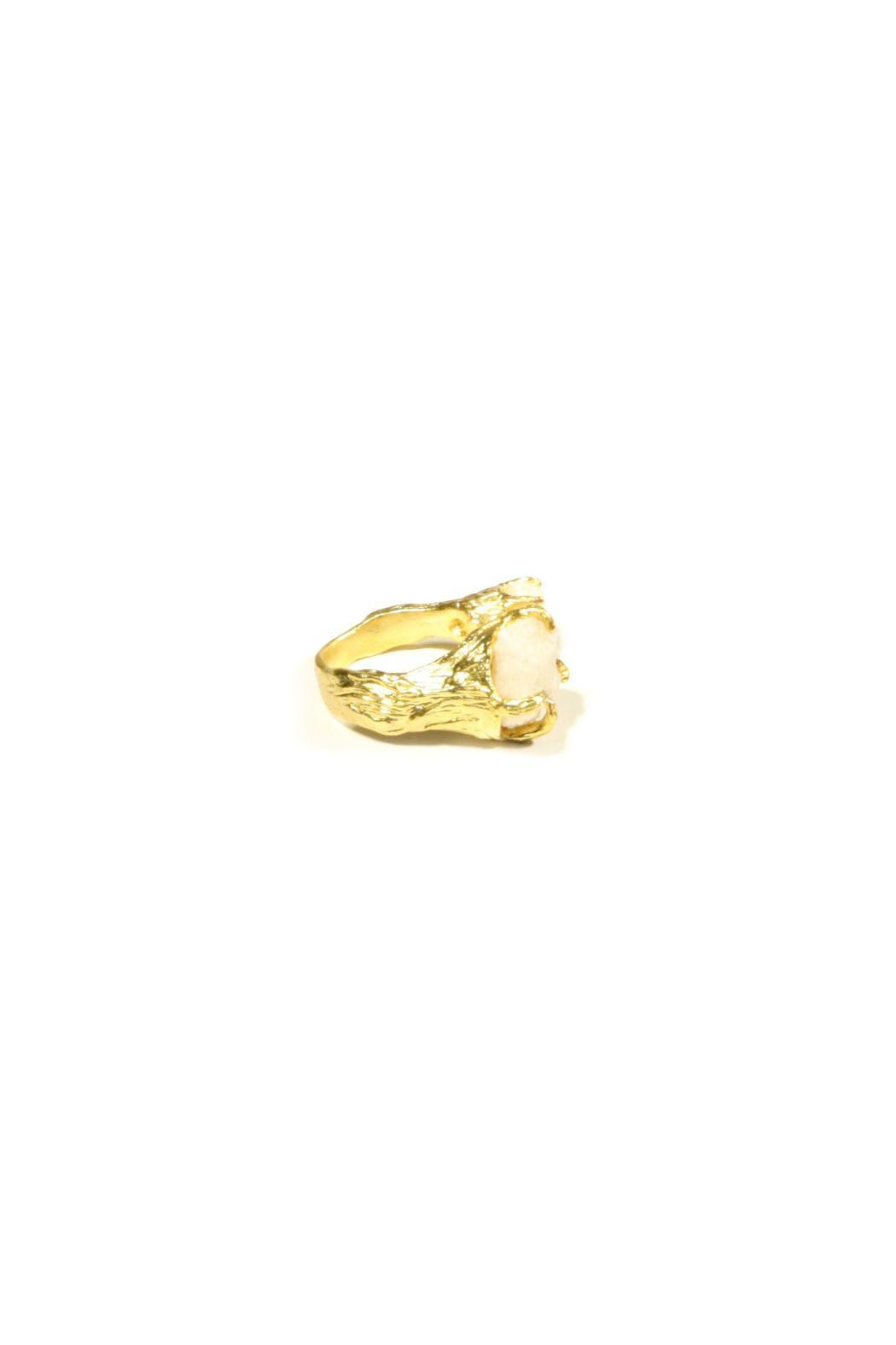 Light Years Collection Gold & Stone Ring - Back Cropped Image
