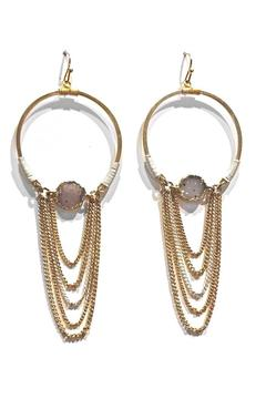 Light Years Collection Druzy Hoop Earrings - Product List Image