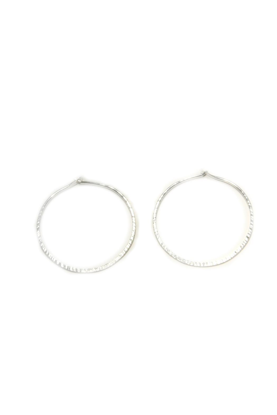 Light Years Collection Etched Hoops - Front Cropped Image