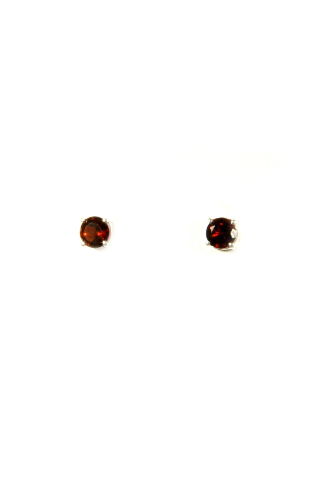 Light Years Collection Faceted Garnet Posts - Main Image