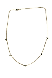 Light Years Collection Floating Triangle Necklace - Front cropped
