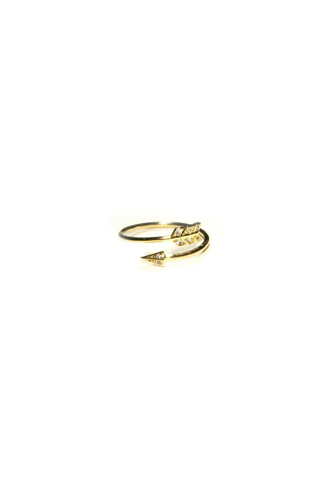 Light Years Collection Gold Arrow Ring - Main Image