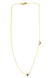 Light Years Collection Gold Celestial Necklace - Front cropped