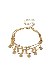 Light Years Collection Gold Chain Bracelet - Front cropped