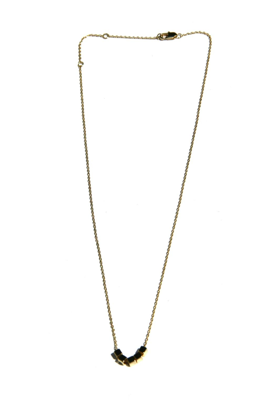 Light Years Collection Golden Cubes Necklace - Front Full Image