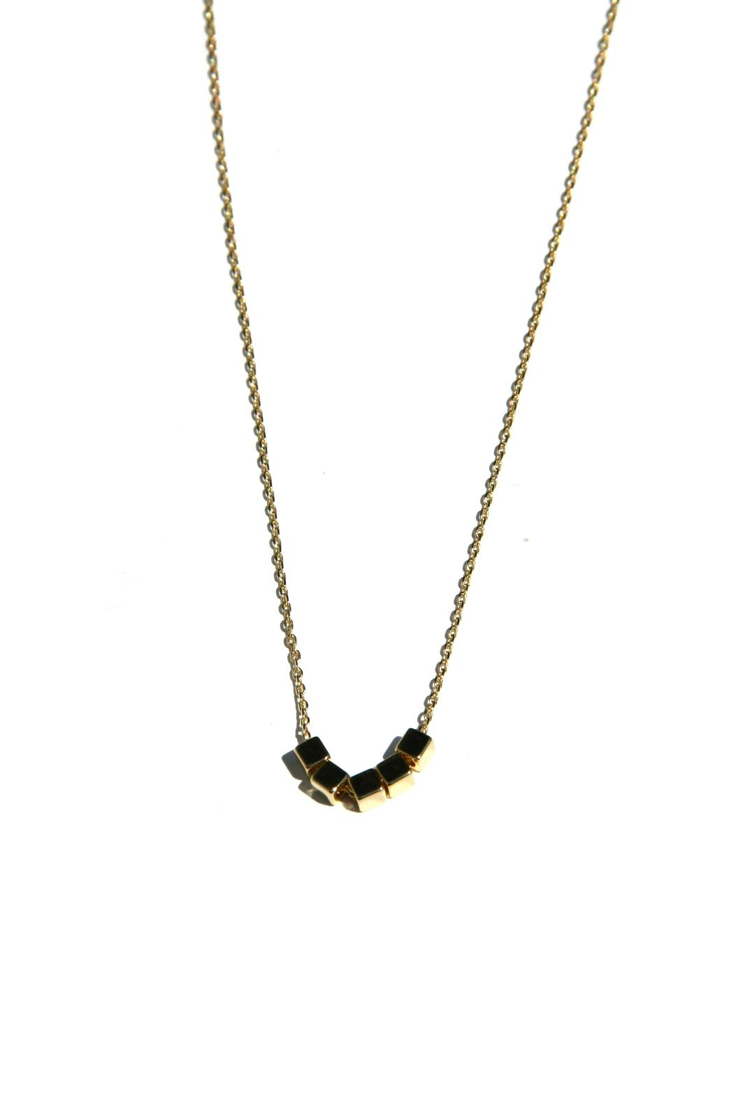 Light Years Collection Golden Cubes Necklace - Main Image