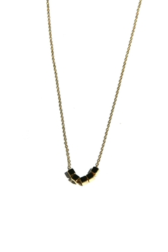 Light Years Collection Golden Cubes Necklace - Product List Image