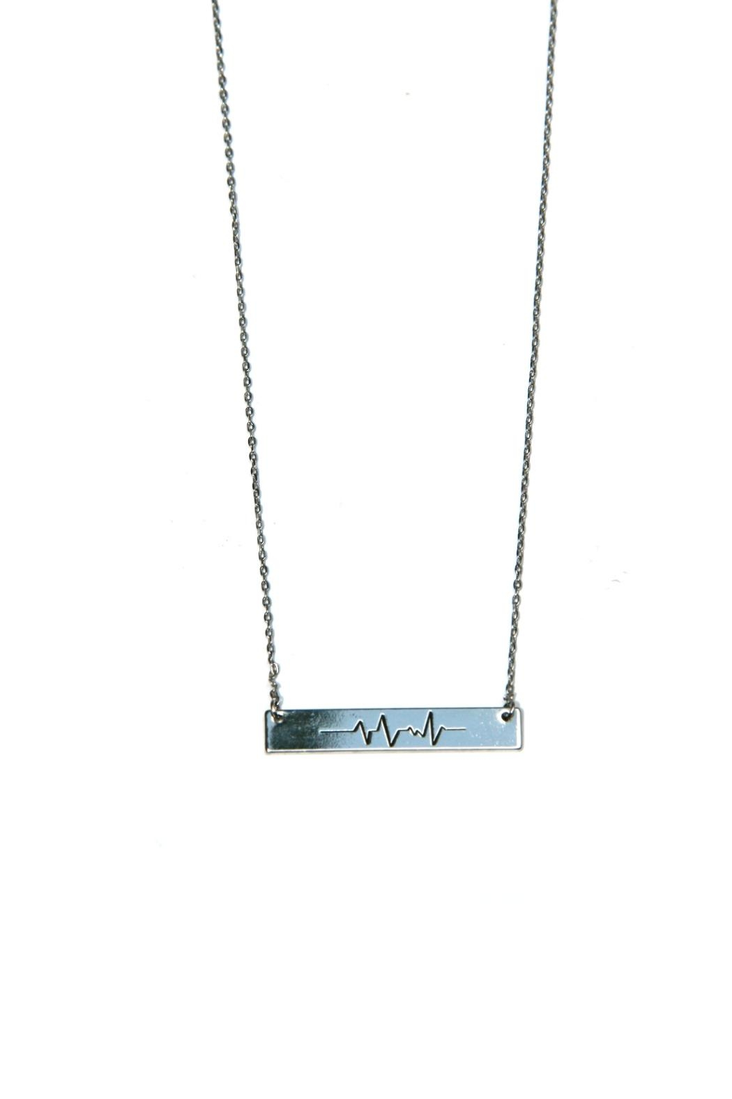 Light Years Collection Heartbeat Wave Necklace - Front Cropped Image