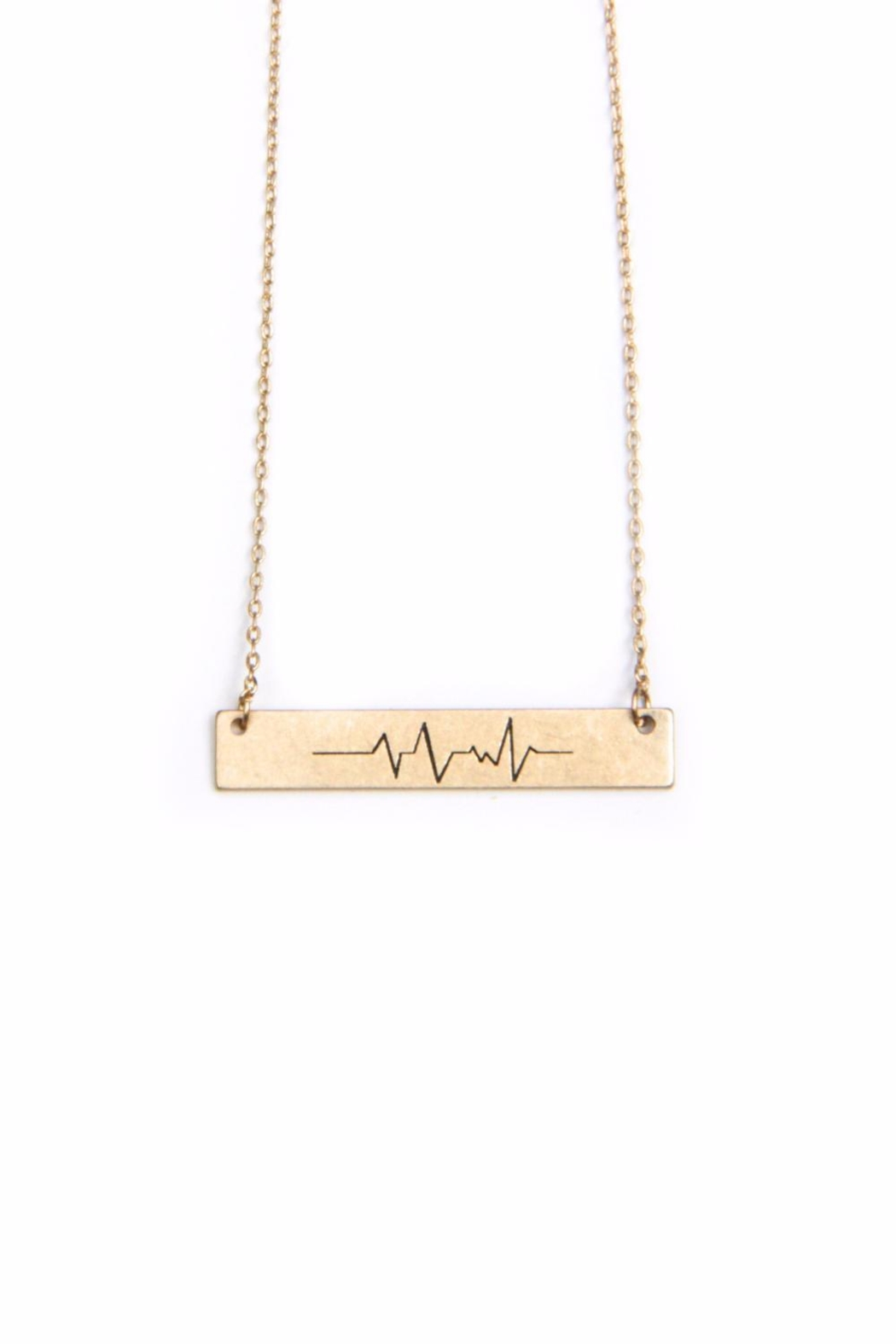 Light Years Collection Heartbeat Wave Necklace - Front Full Image