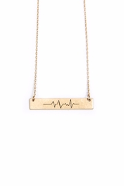 Light Years Collection Heartbeat Wave Necklace - Front full body