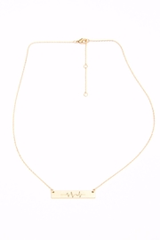 Light Years Collection Heartbeat Wave Necklace - Front cropped