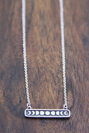 Light Years Collection Moon Phase Necklace - Front cropped