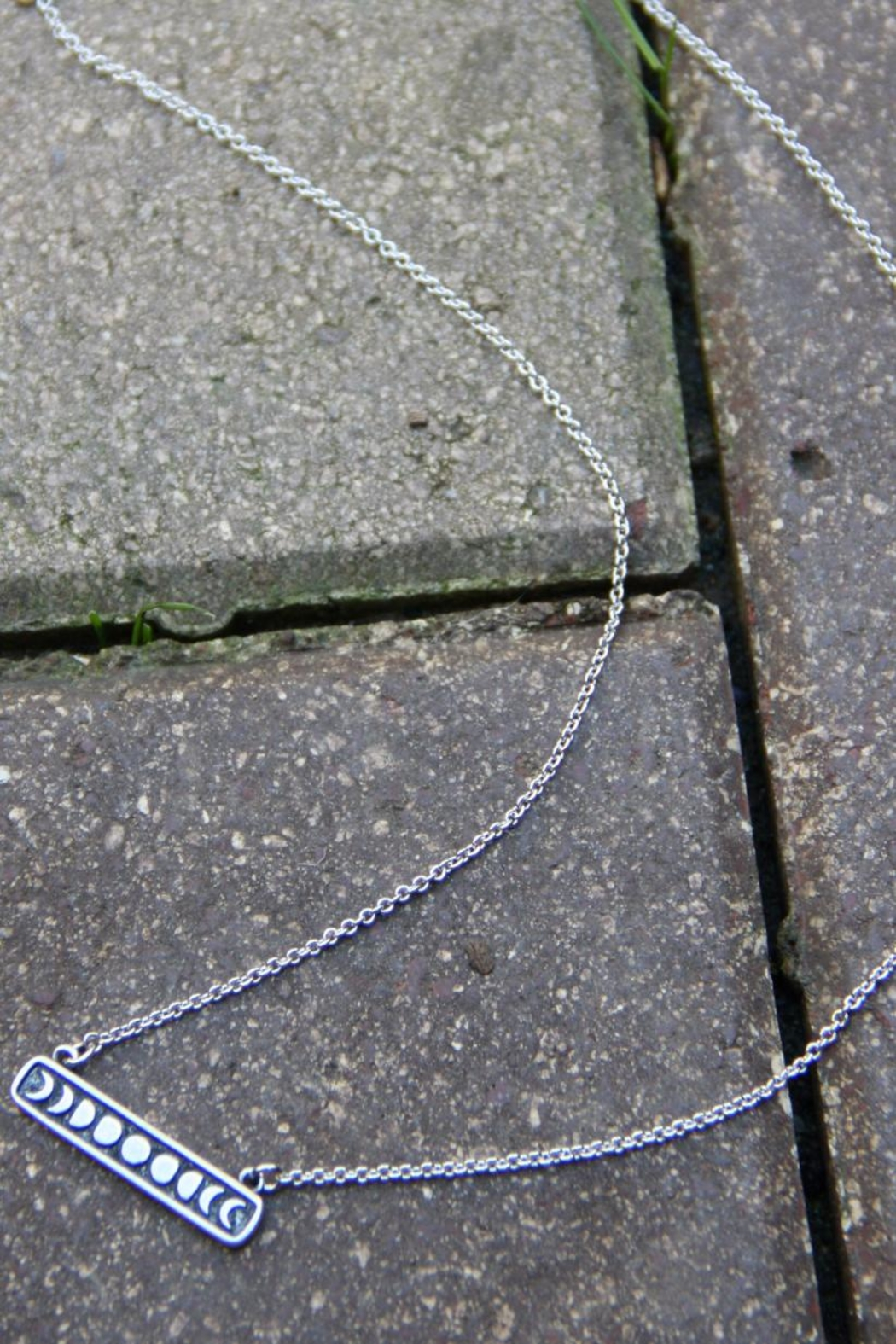 Light Years Collection Moon Phase Necklace - Front Full Image