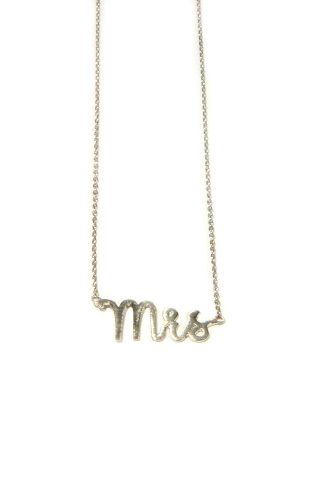 Light Years Collection Mrs Necklace - Front Cropped Image