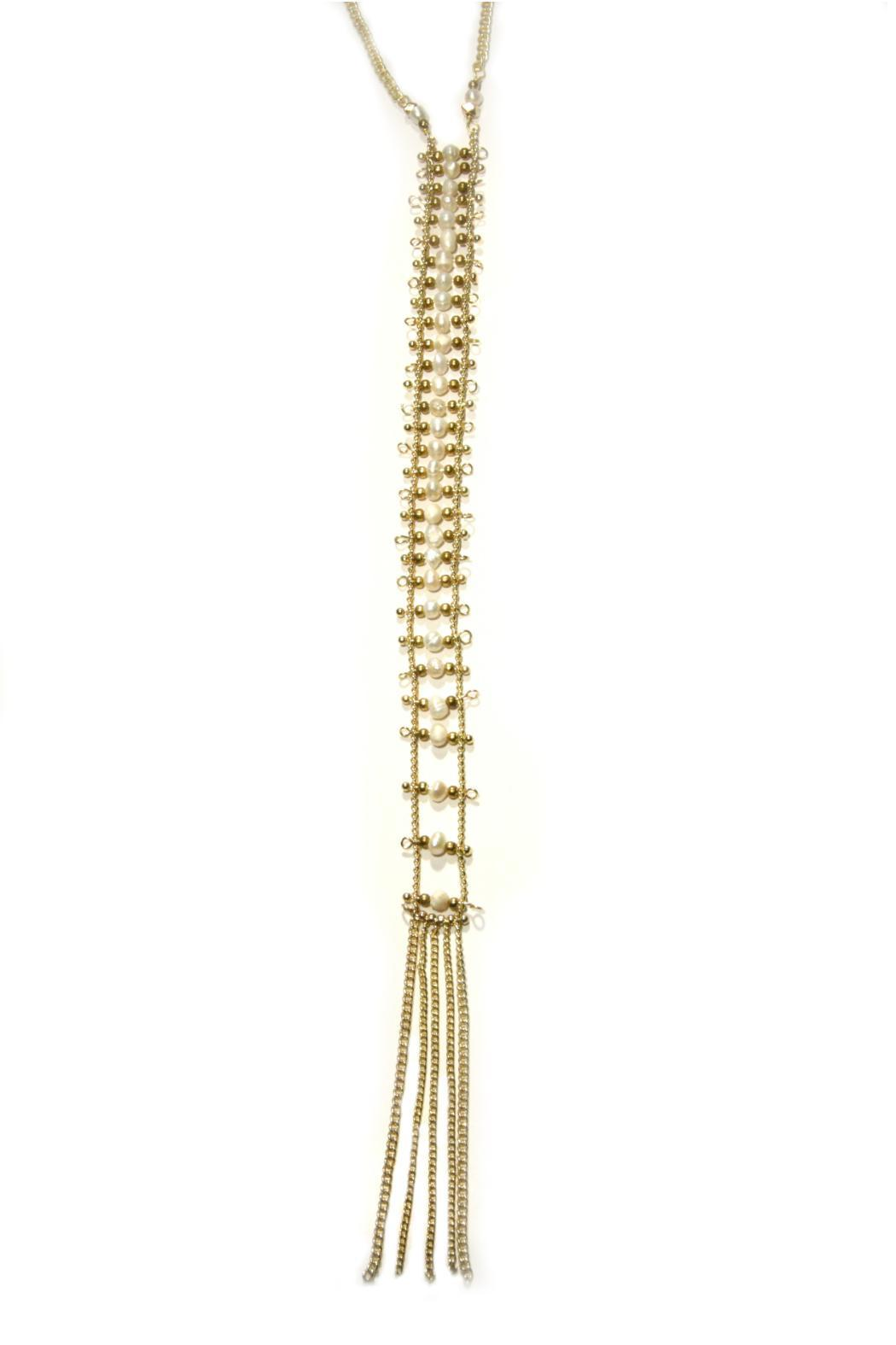 Light Years Collection Pearl Tassel Necklace - Main Image