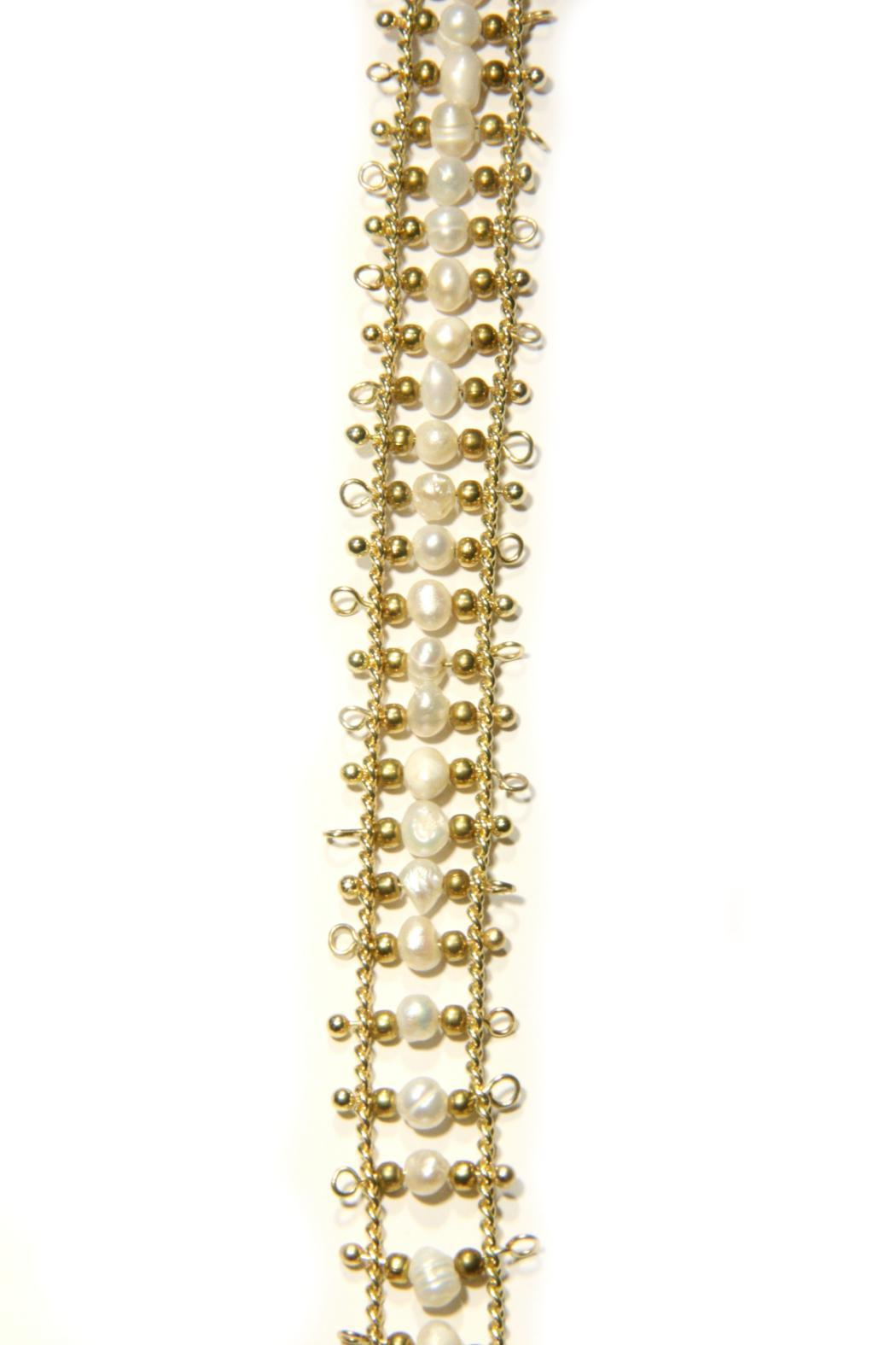Light Years Collection Pearl Tassel Necklace - Front Full Image