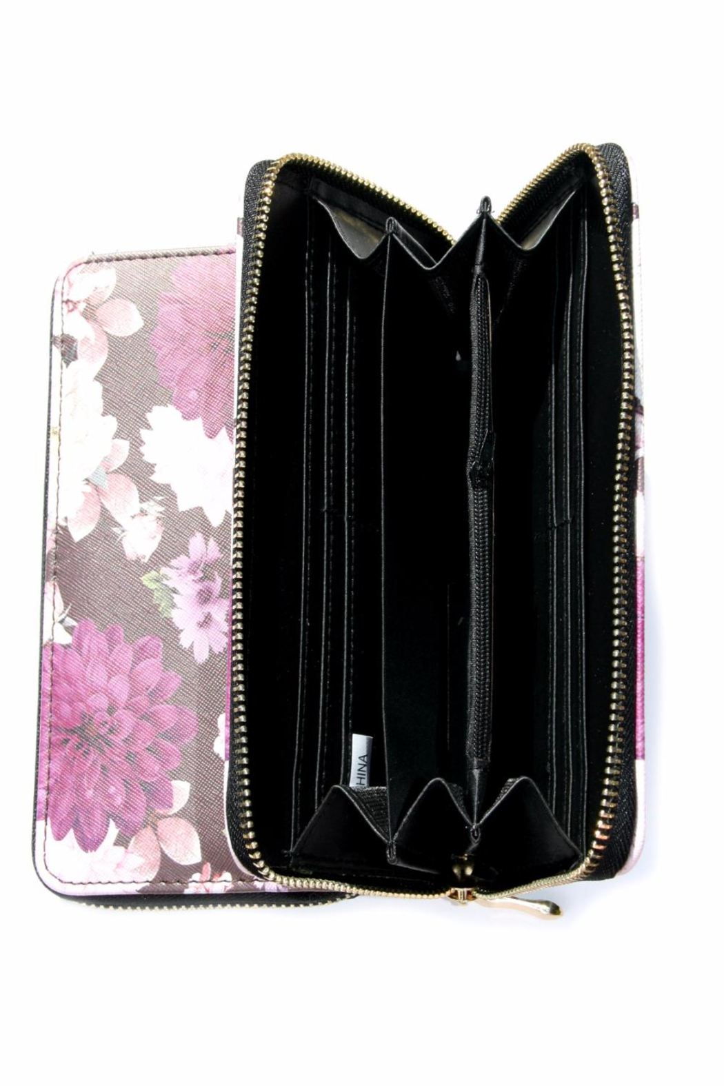 Light Years Collection Purple Floral Wallet - Front Full Image