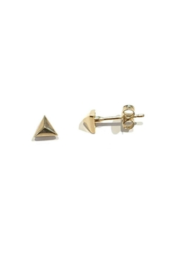 Shoptiques Product: Pyramid Post Earrings