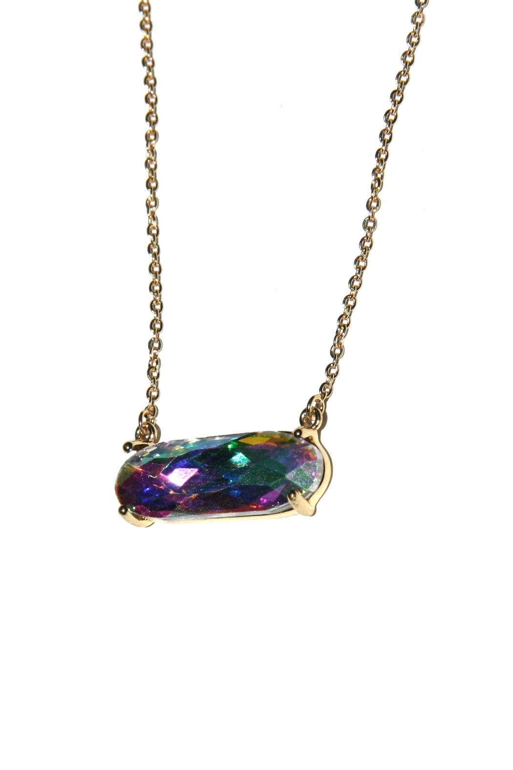 Light Years Collection Rainbow Crystal Necklace - Front Full Image