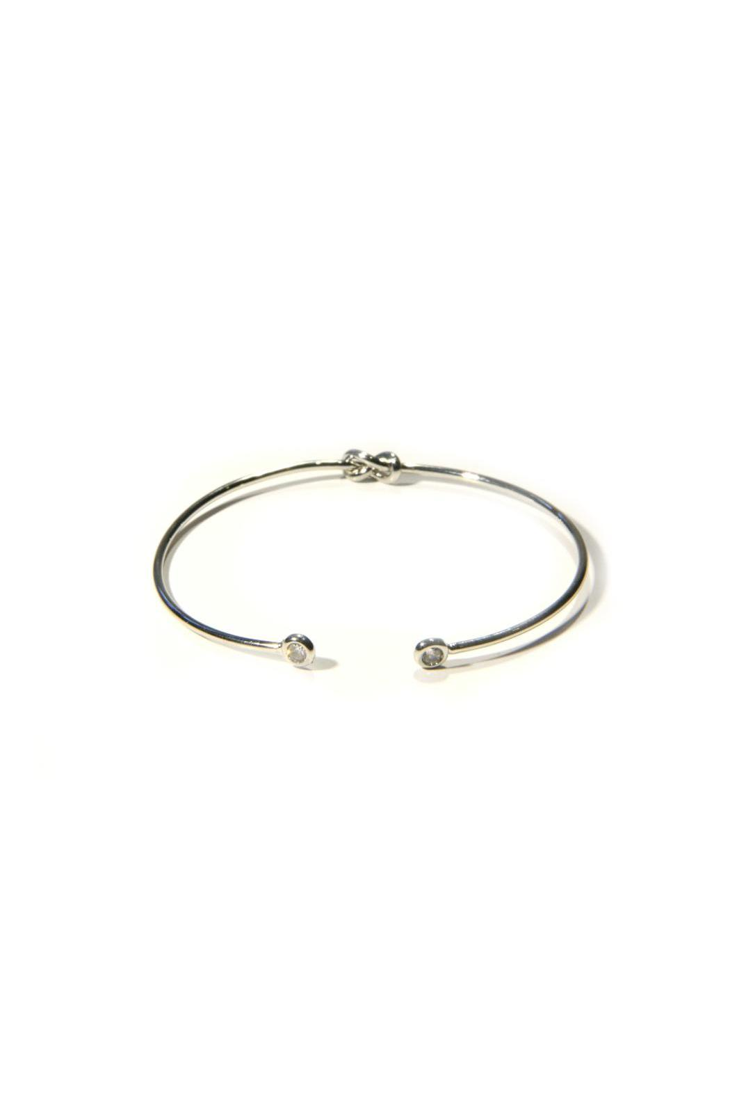 Light Years Collection Silver Knot Cuff - Back Cropped Image