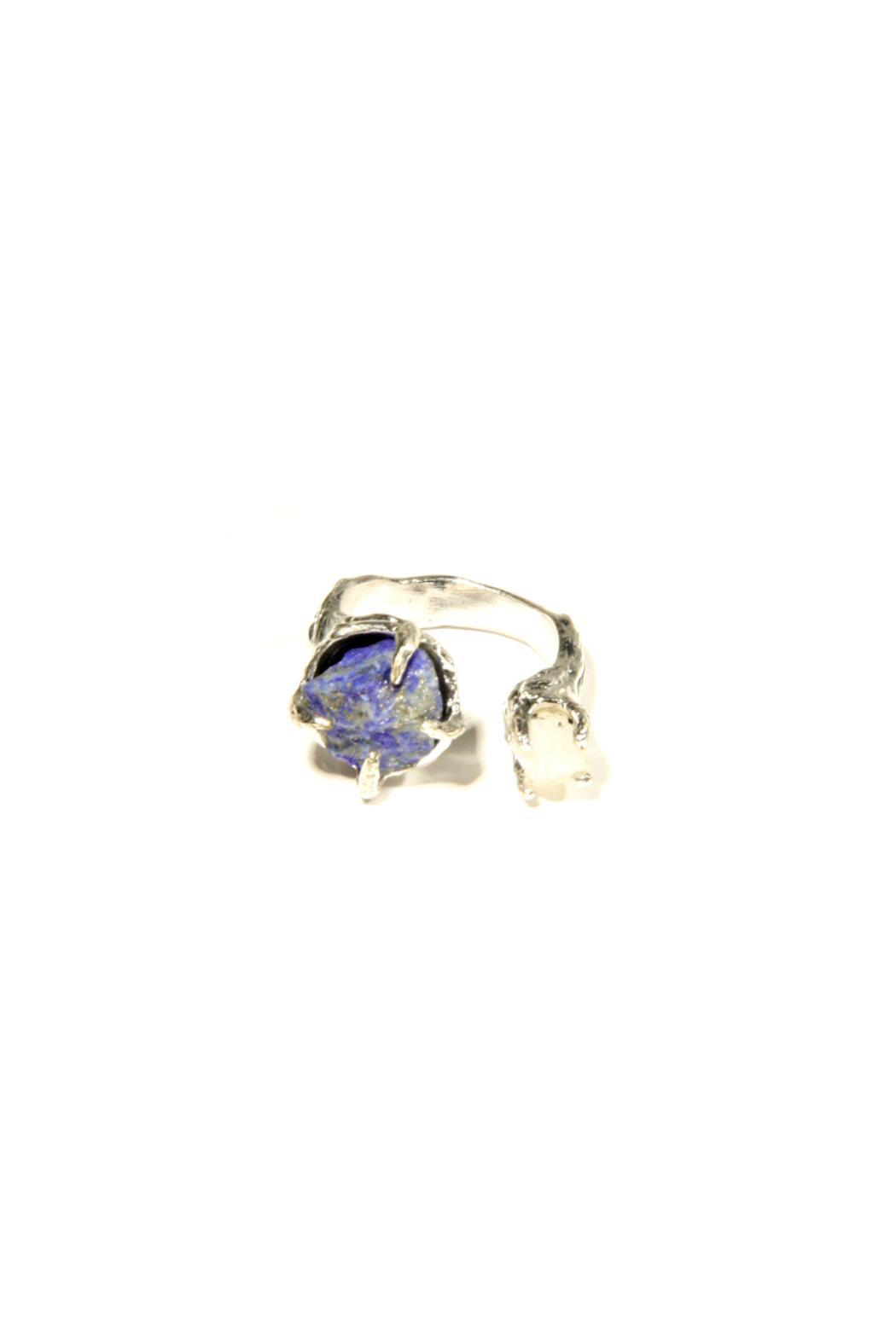 Light Years Collection Silver & Stone Ring - Side Cropped Image