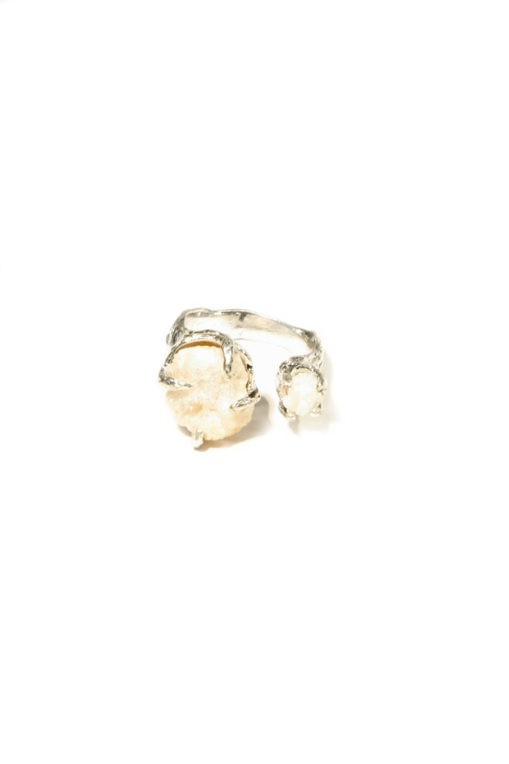 Light Years Collection Silver & Stone Ring - Main Image