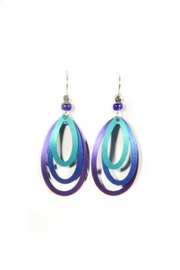 Light Years Collection Stacked Oval Earring Dangles - Product Mini Image