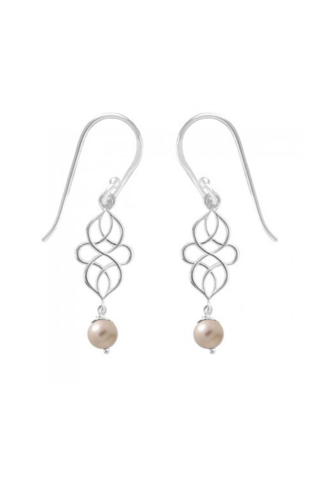 Light Years Collection Swirl Pearl Dangles - Main Image