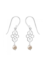 Light Years Collection Swirl Pearl Dangles - Front cropped