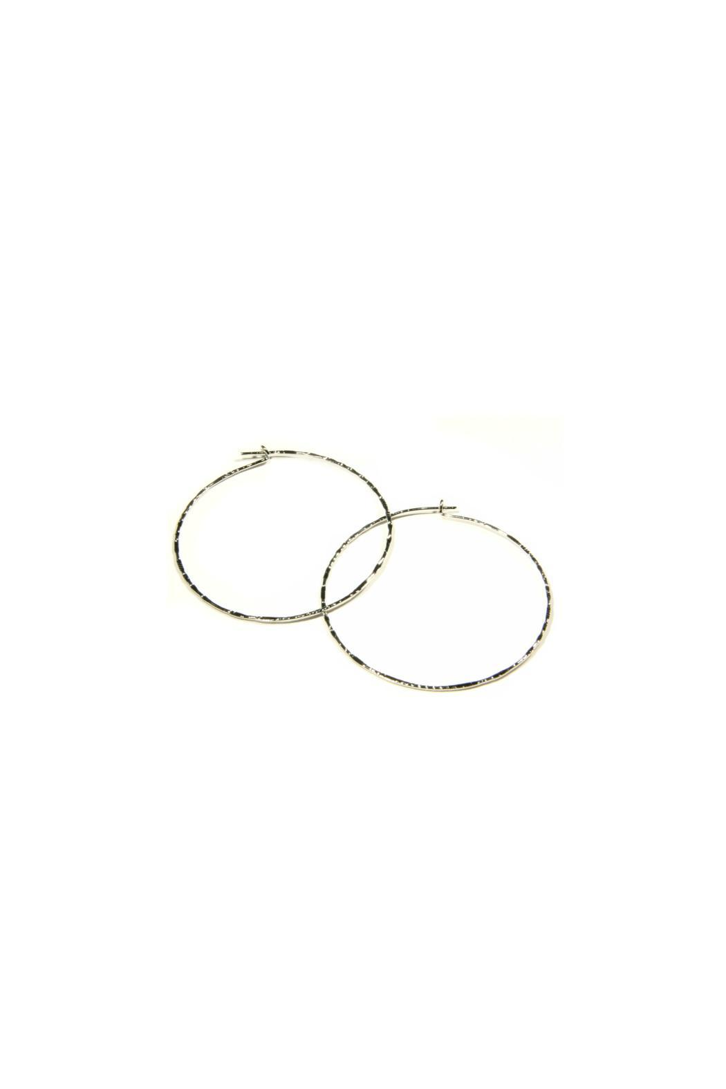 Light Years Collection Thin Textured Hoops - Main Image