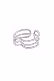 Light Years Collection Triple Chevron Ring - Front cropped