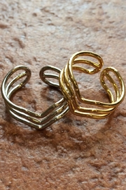 Light Years Collection Triple Chevron Ring - Front full body