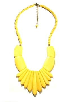 Light Years Collection Yellow Statement Necklace - Alternate List Image