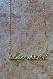 Light Years Collection Zodiac Script Necklaces - Front cropped