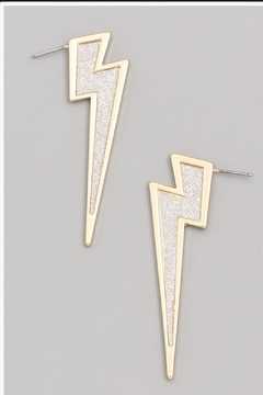 Runway & Rose Lightening Bolt Long-Stud - Alternate List Image
