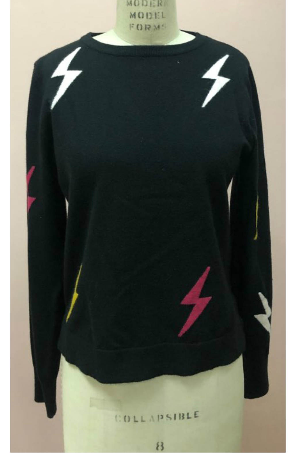 THML  Lightening bolt sweater - Front Cropped Image