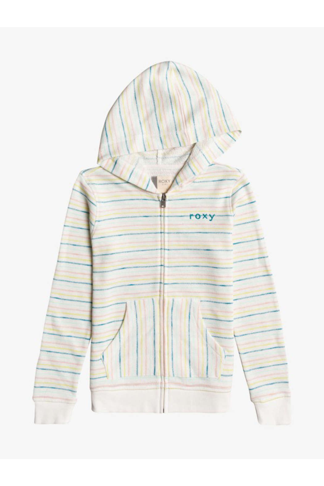 Roxy  Lighter Day Stripe Zip-Up Hoodie - Front Cropped Image